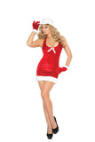 HotSpotLingerie.com 3 pc. Sexy Santa costume includes tutu dress, belt and Santa hat.