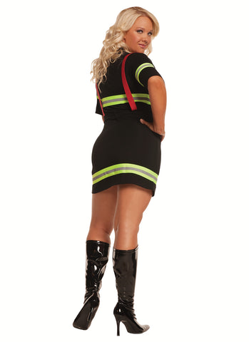 Plus Size Sexy Firefighter Costume