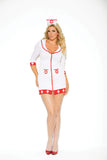 HotSpotLingerie.com 2 pc. Plus size sexy Nurse costume includes zip front dress and head piece.