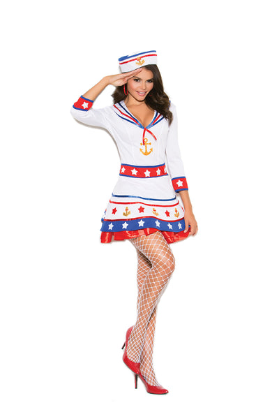 HotSpotLingerie.com 2 pc. Sexy sailor costume includes dress and hat.