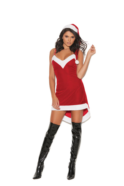 Elegant Moments Santa's Sweetie - 2 Pc, Costume Includes Velvet Dress With Adjustable Straps And A Hat