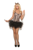 HotSpotLingerie.com 4 pc. Sexy cat costume includes tutu dress, detachable tail, neck piece and cat ears head band.