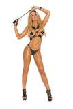 HotSpotLingerie.com 2 piece set. Harness and g-string with square nail heads and O rings.