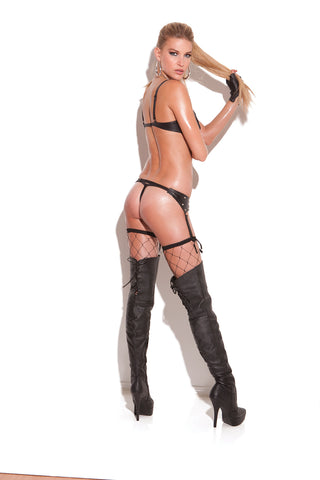 Leather Garter Belt With Studs