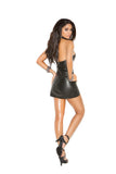 Leather Mini Dress With Studded Underwire Cups