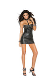 HotSpotLingerie.com Leather mini dress with studded underwire cups.