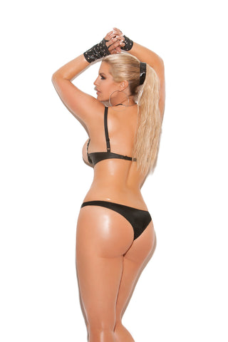 Plus Size Leather Thong