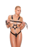 HotSpotLingerie.com Leather adjustable harness with chains. Unisex.