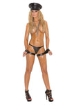 HotSpotLingerie.com Leather thigh to wrist restraints.