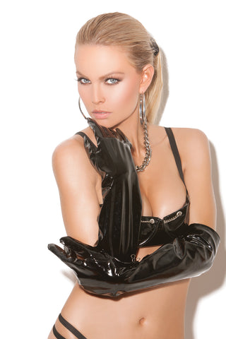 HotSpotLingerie.com Long vinyl gloves.