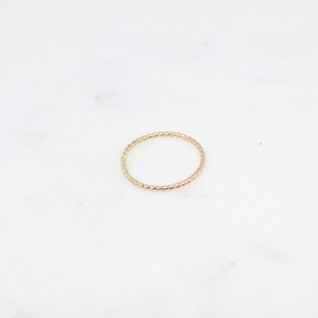 twisted gold stacking ring