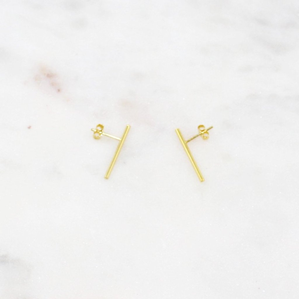 long bar earrings