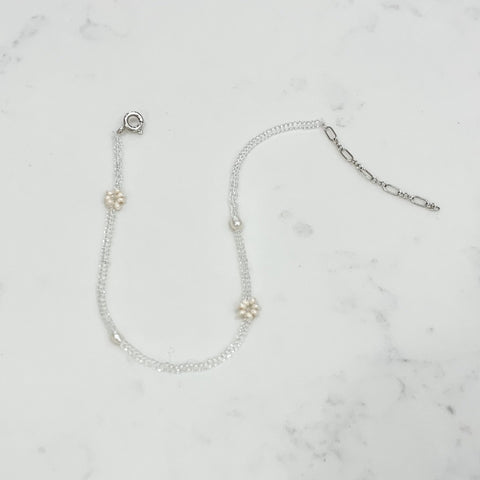 clear pearl anklet