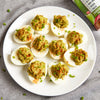 Sriracha Lime Avocado Deviled Eggs