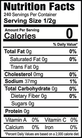 Zesty Ranch Nutrition Facts