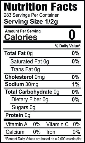 Pizza Spice Nutrition Facts