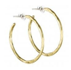 Free Form Earrings - Brass - Medium