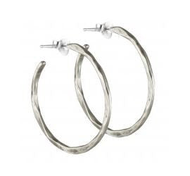 Free Form Earrings - Sterling Silver - Medium