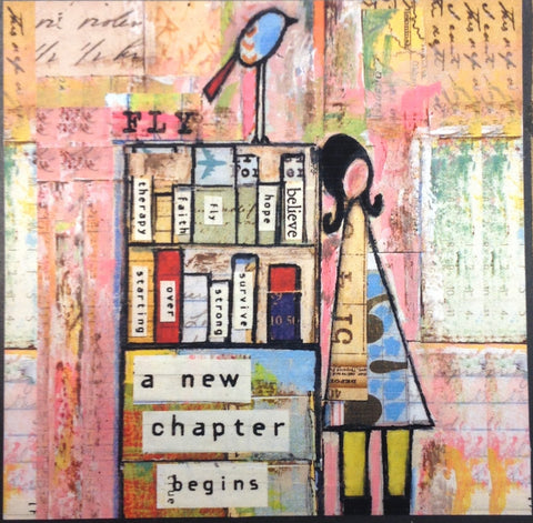 New Chapter Wooden Plaque 4x4