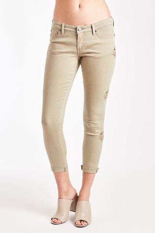 Joyrich Comfort Skinny Jeans (Embroidered Clay)