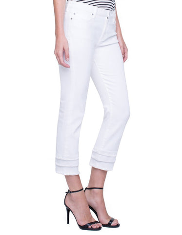 Lucia Crop Liverpool Jeans (Bright White)