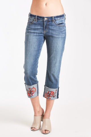 Playback Cuffed Penny Blossom Jeans