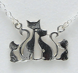 Cat Family Necklace