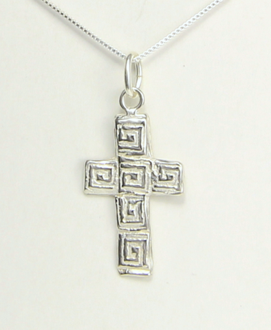 Mosaic Cross Necklace