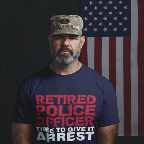 Retired Police Officer - Time to Give Arrest - Men's