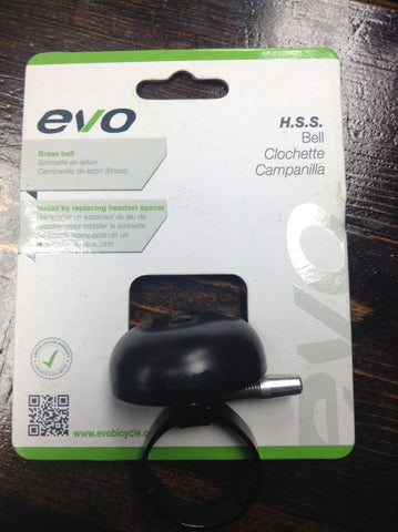EVO Brass Black Headset Bell 1 1/8