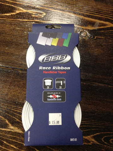 BBB White Race Ribbon Bar Tape BHT-01