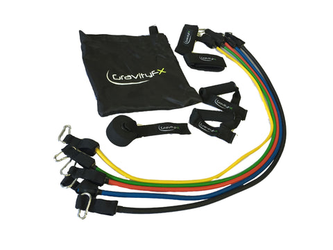 GravityFX 11 Piece Resistance Band Set