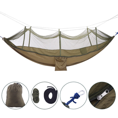 Outdoor Camping Parachute Hammock Mosquito Net Flyknit Tent