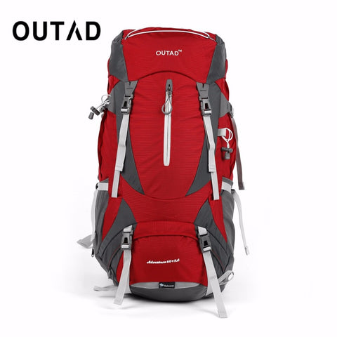 OUTAD 60+5L Outdoor Water Resistant Nylon Sport Backpack