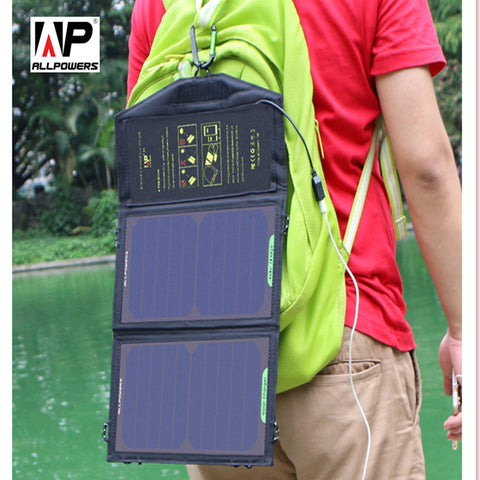 Allpowers 5V10/18/21W Sunpower Solar Charger Panel Waterproof
