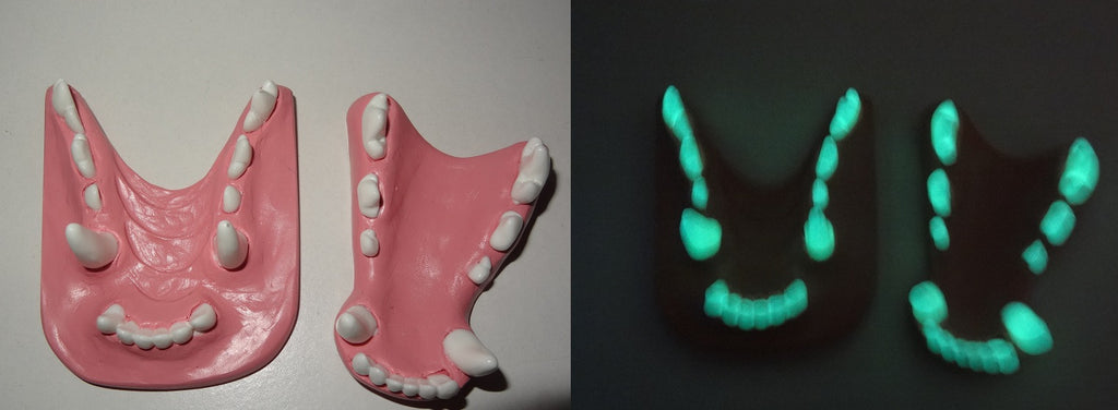 Base Colored Glow in the Dark Fox Jawset