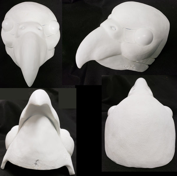 Uncut Budgie Resin Mask Blank