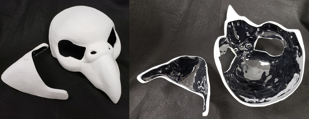 Cut Budgie Resin Mask Blank
