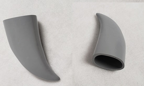 Opaque Hollow Small Horns *Sold Per Horn*