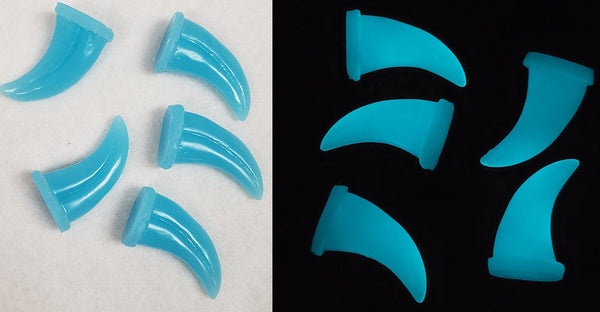 Glow in the Dark UV Small Raptor Claws *Sold per claw*
