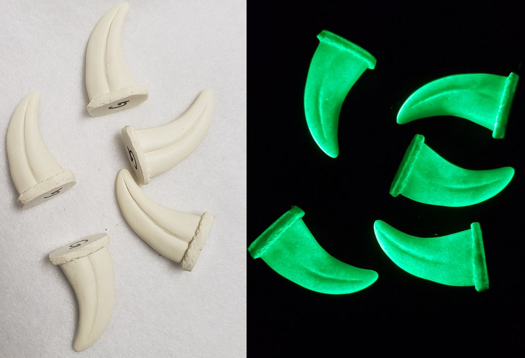 Opaque Glow in the Dark Small Raptor Claws *Sold per claw*