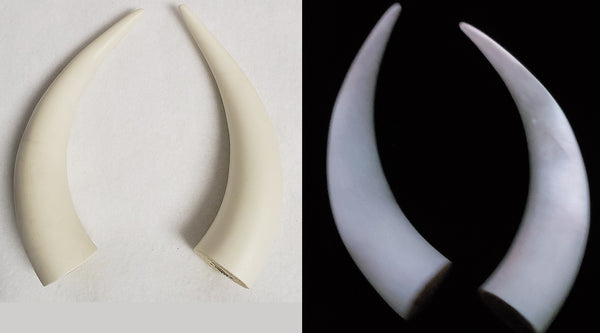 Glow in the Dark Small Bull Horns