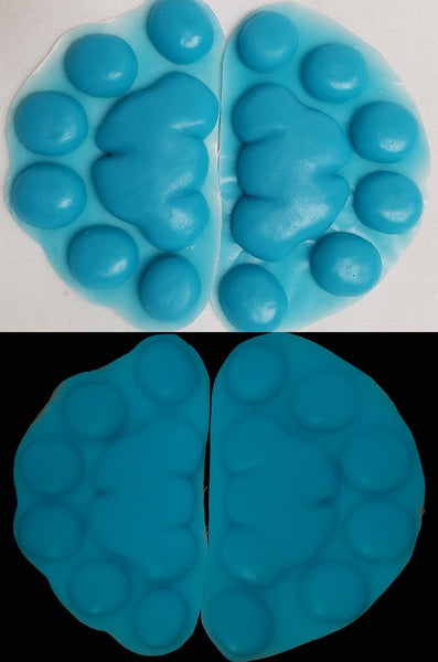 Silicone Glow in the Dark Feral Feline Handpads