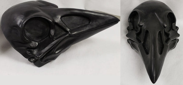 Uncut Skeletal Crow Mask Blank