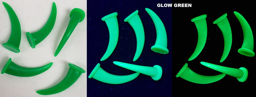 UV Reactive Glow in the Dark Grizzly Claws *Sold Per Claw*