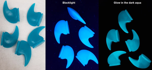 UV Reactive Glow in the Dark Small Monster Claws *Sold Per Claw*