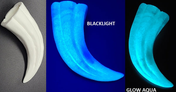 Opaque Glow in the Dark Hollow Large Raptor Claws *Sold Per Claw*