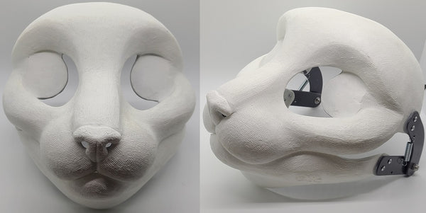 Cut and Hinged New Small Feline Resin Mask Blank