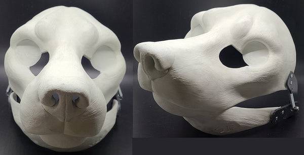 Cut and Hinged Realistic Small K9 Resin Mask Blank