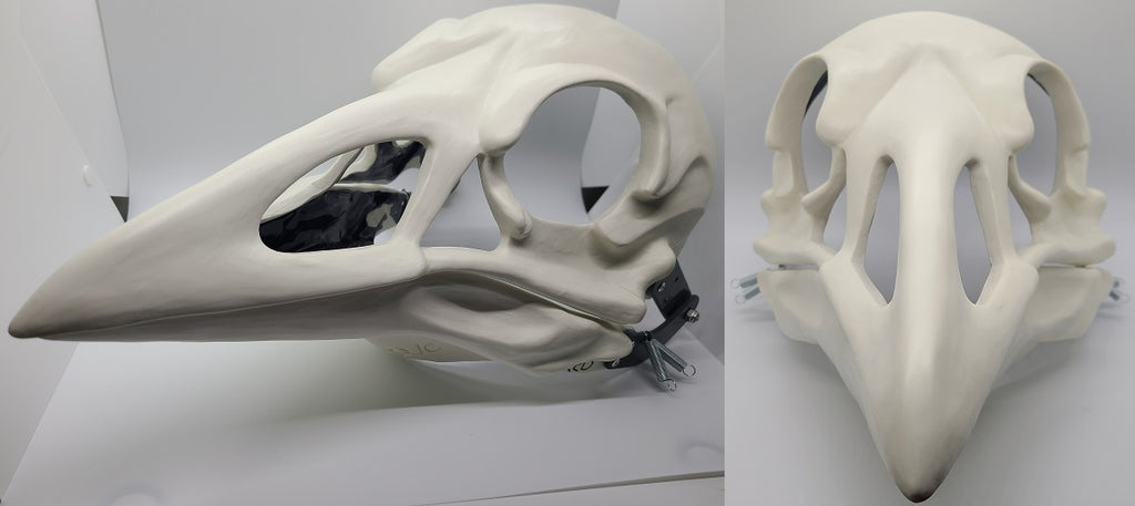 Cut and Hinged Skeletal Crow Mask Blank